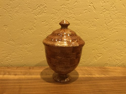 Wooden vessel #31 with lid