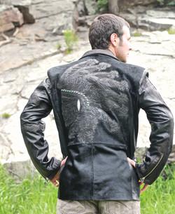 Hair-On Euro Calf Leather w/Stingray