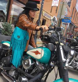 Pony Jacket & Custom Leather Purse