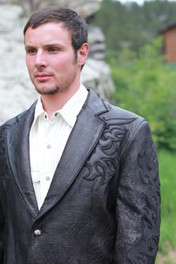 Wrinkled Lamb Leather w/Stingray