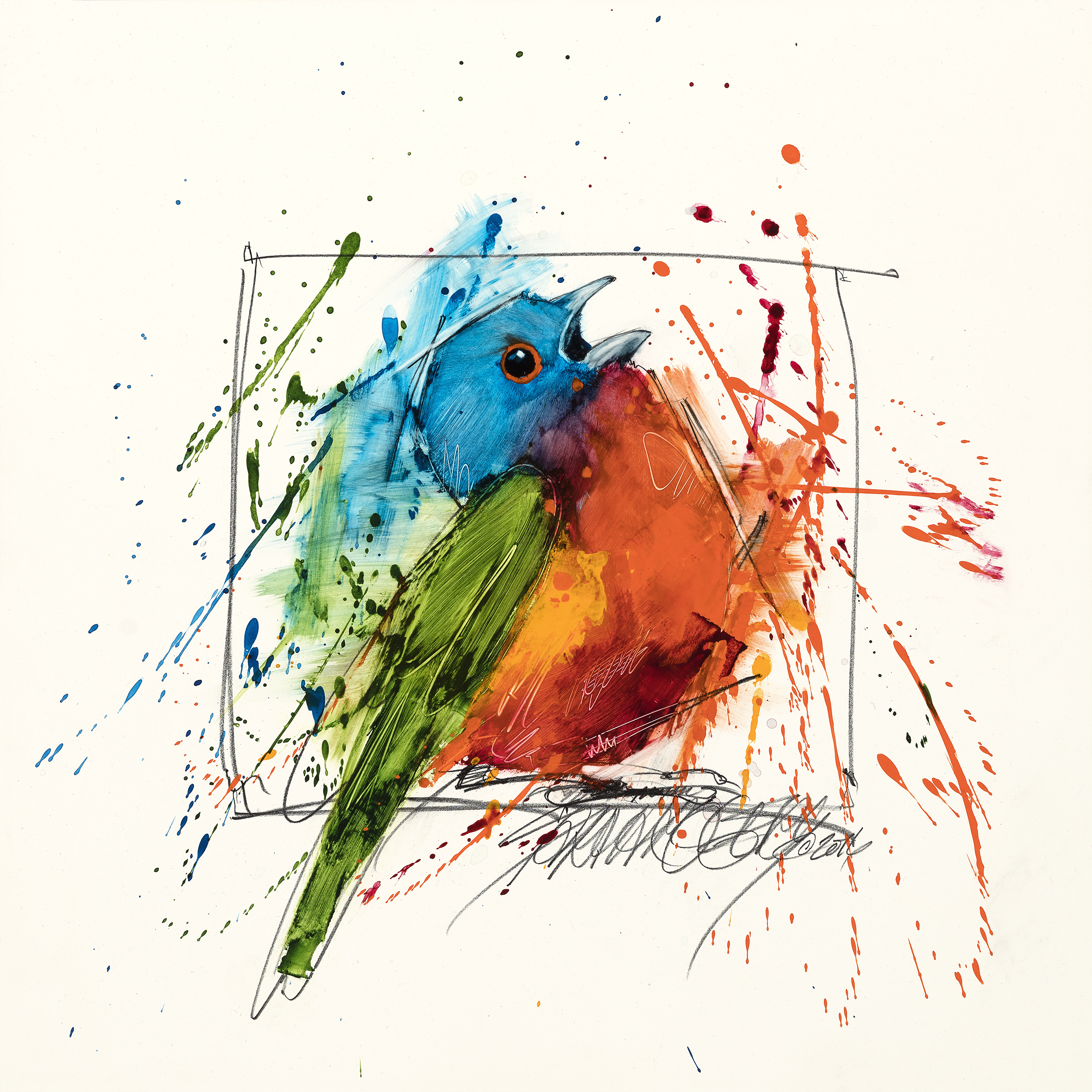 Exploding Painted Bunting