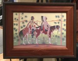 Deer leather frame