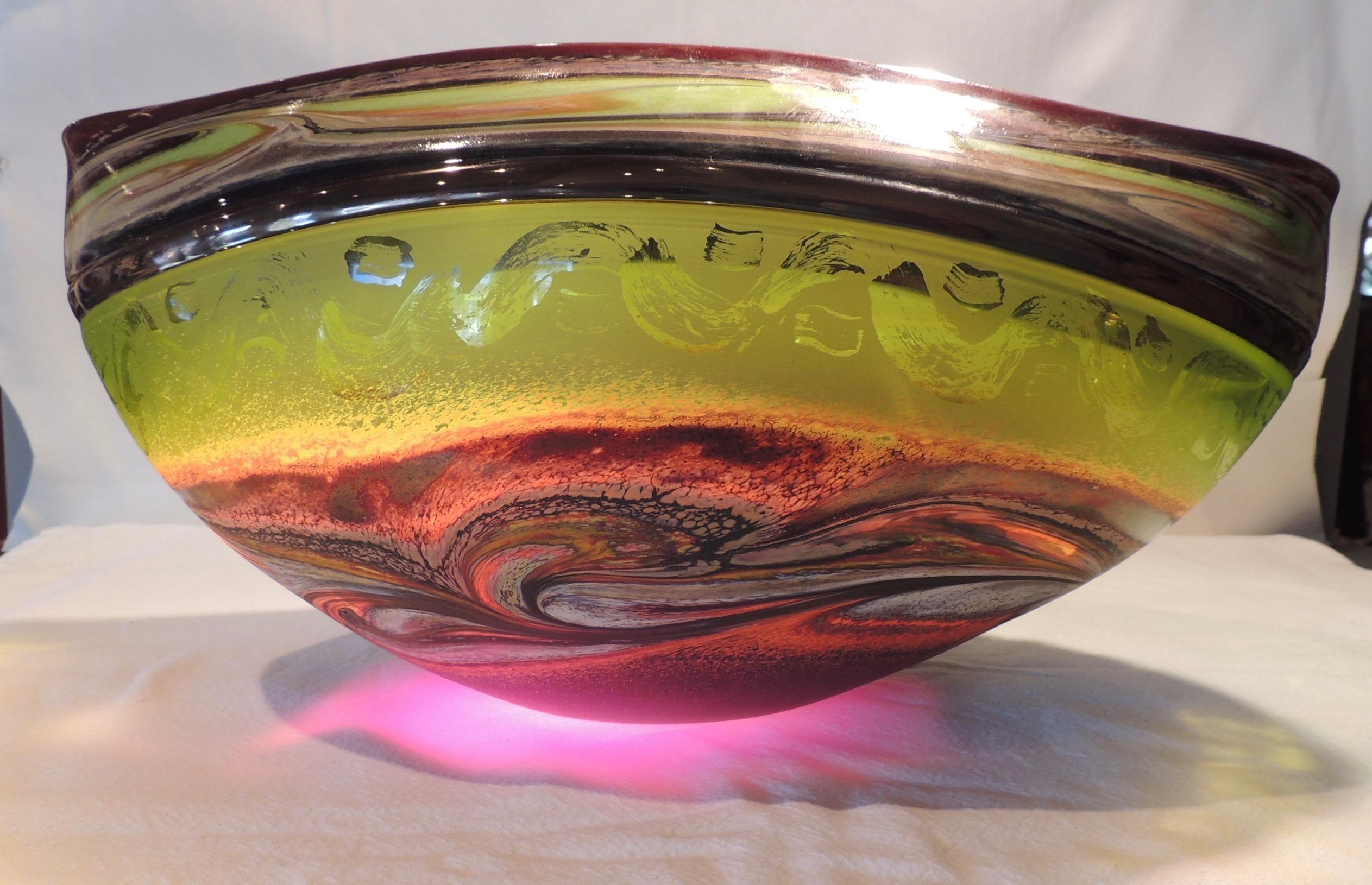 Jupiter Vessel - Lime & Purple
