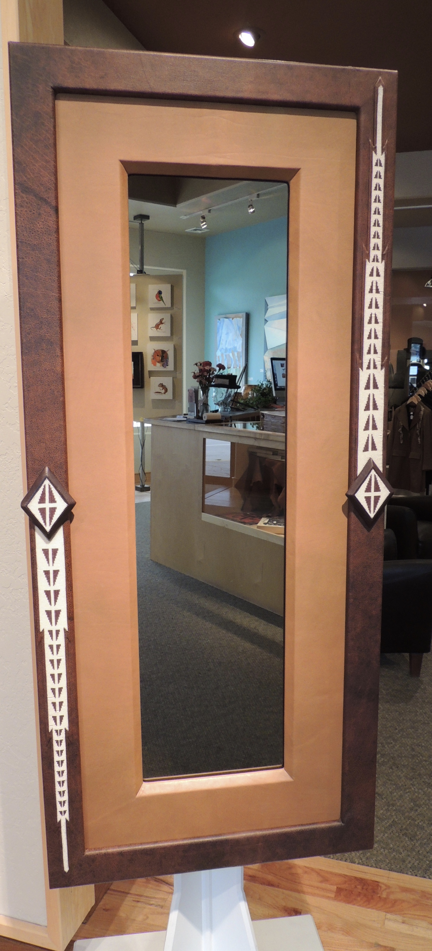 Bison Leather Mirror