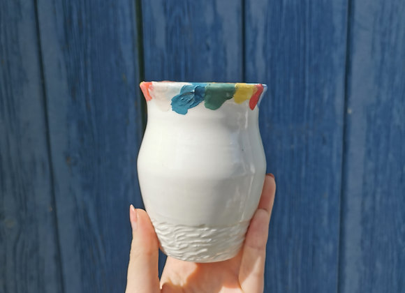 Petit vase multicolore