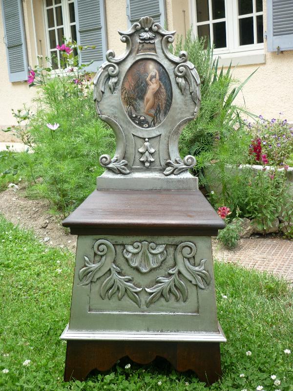 Chaise décorative en bois