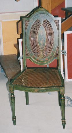 Fauteuil et chaise canés