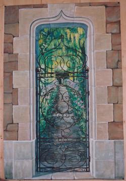 Entrée de jardin néogothique