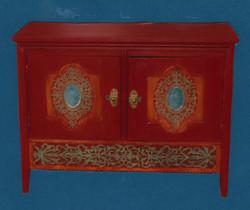 Petit meuble de style oriental chiné