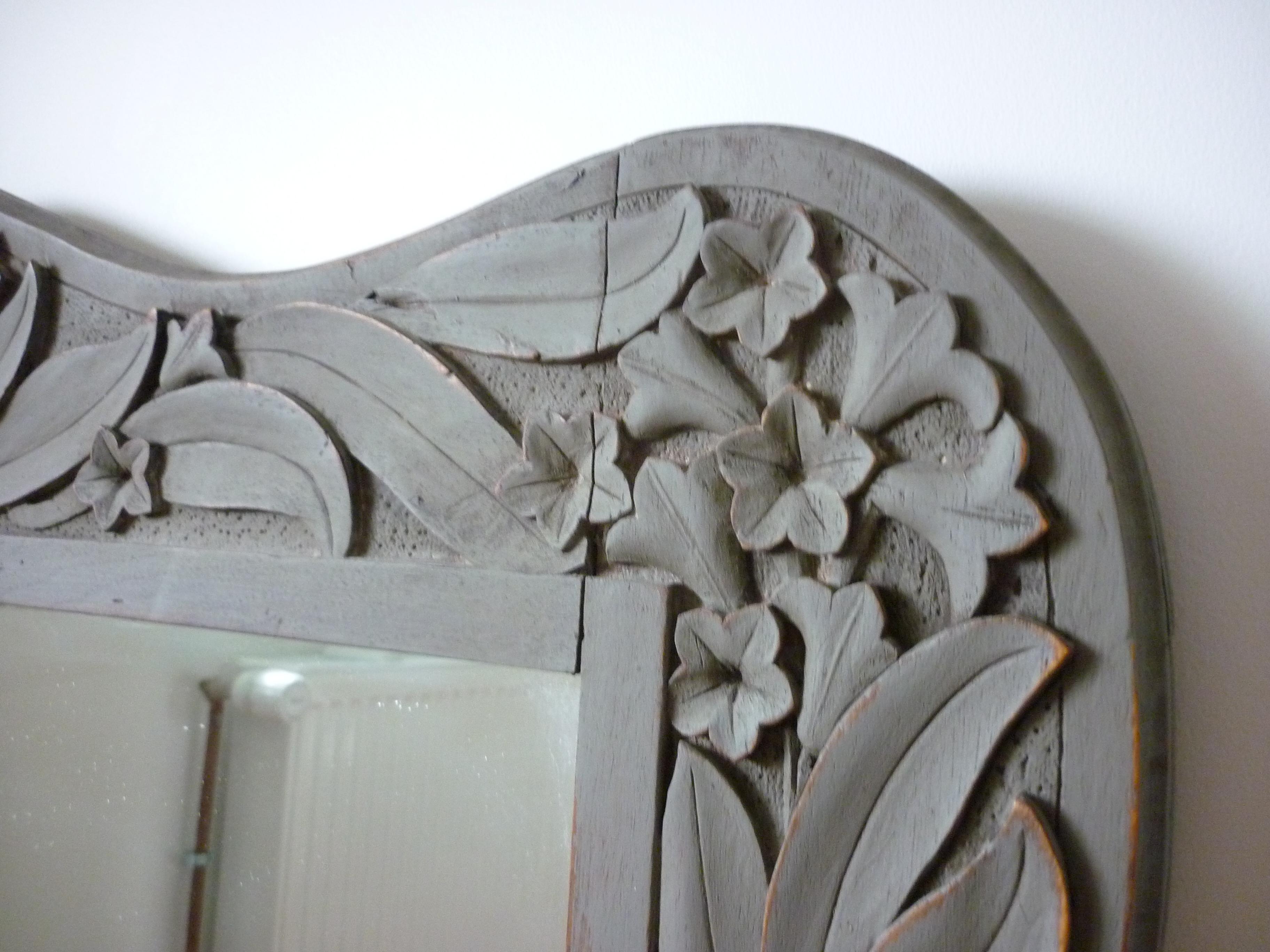 Détail miroir ancien