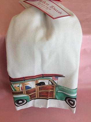 Woody Dog - Set of 2 Tea Towels