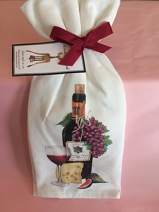 Red Wine & Cheese - Set of 2 Tea Towels