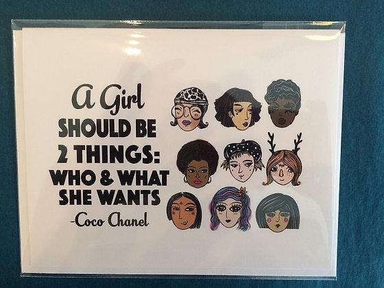 Coco Chanel Card