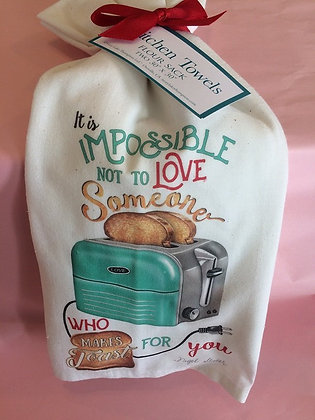Someone who makes toast - Set of 2 Tea Towels