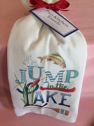Jump in the lake - Set of 2 Tea Towels