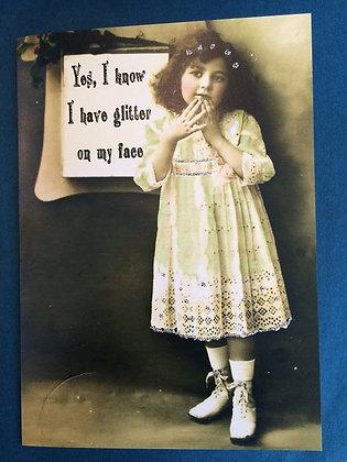 Greeting Card - Glitter