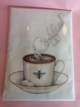 Coffee Bee Tea Towel