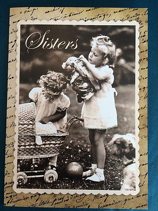 Greeting Card - Sisters (with carriage)