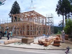 建て方作業風景