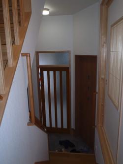 1階からの玄関の眺め
