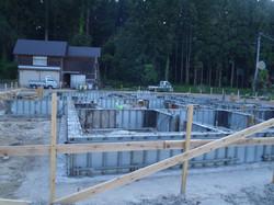 布基礎コンクリート打設