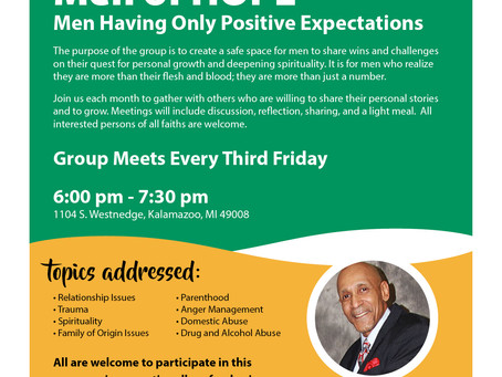 JOIN ME for the Men of Faith Support Group!