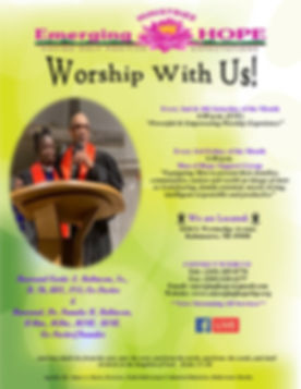 Updated Worship With Us Flyers 2020 - Co