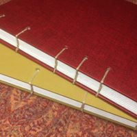 A6 jegyzetfüzet, kopt kötés