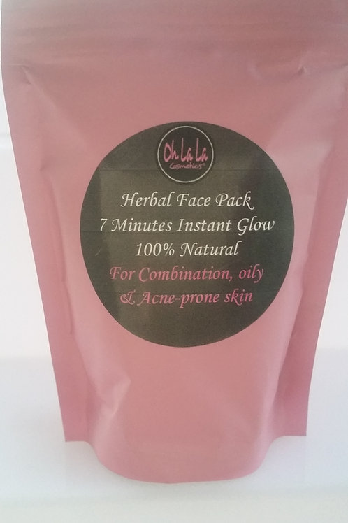 Herbal Face Pack - 7 Minutes Instant Glow - 100% Natural