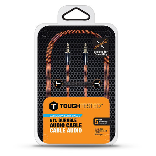 Tough Tested - Durable Braided Fabric 3.5MM Auxiliary Cable