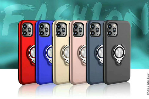 Metal Holder Stand Magnetic Shockproof Case For iPhone 11 / 11 Pro / 11 Pro Max