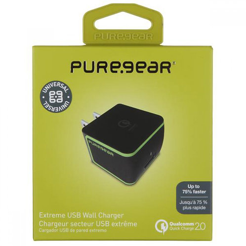 PureGear Travel Charger Extreme 2A - Black