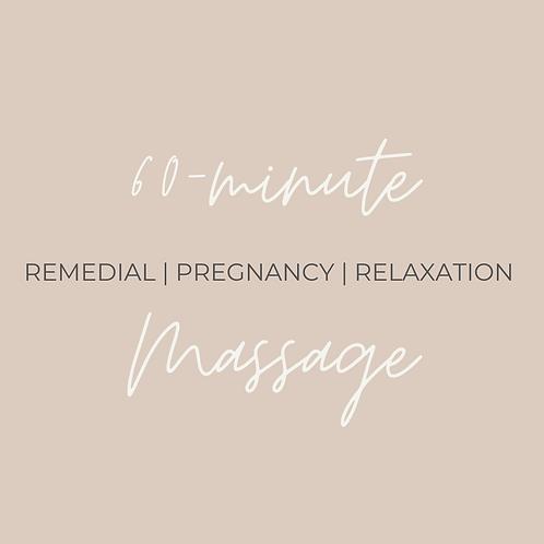 60-minute Remedial Massage