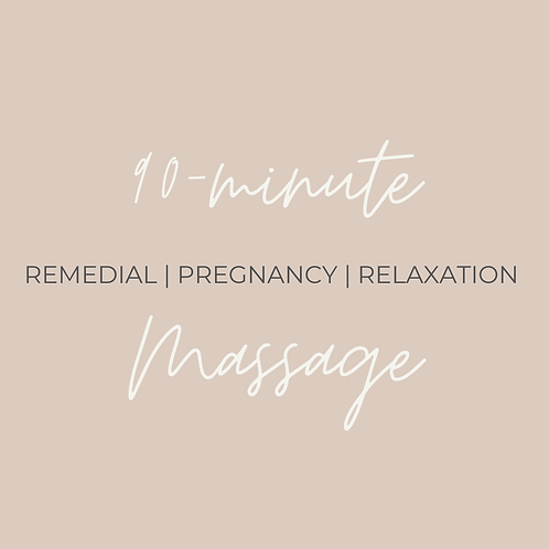 90-minute Remedial Massage