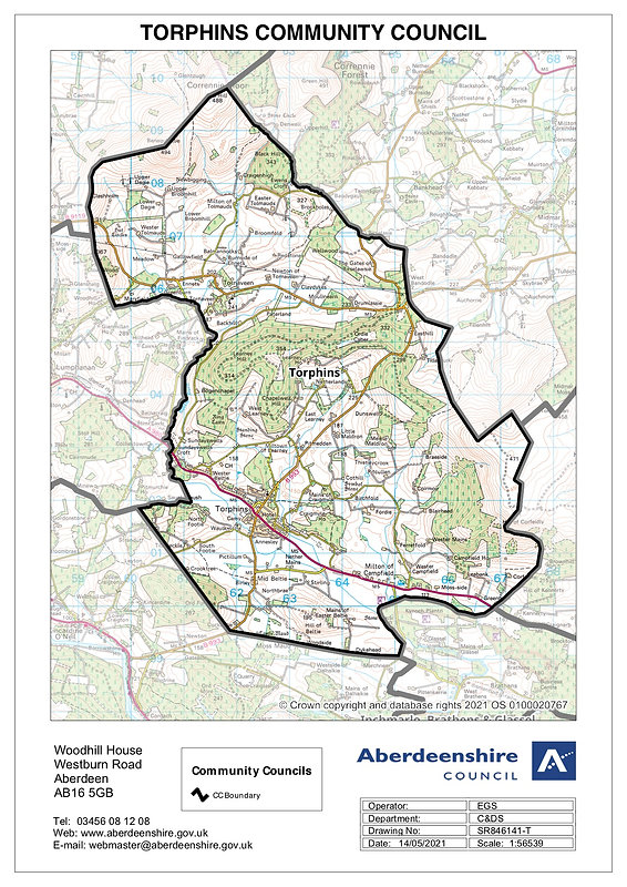 Torphins-CC-map revised boundaries May 2