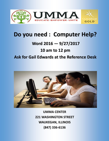 UMMA DAY COMPUTER TRAINING CLASSES STARTING SIGN-UP TODAY!