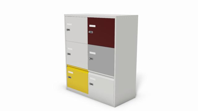Metal Office locker with bottom drawers