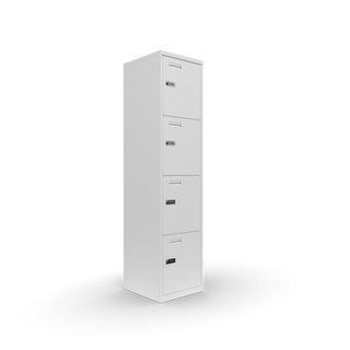 Metal Office 4 door locker with combi locks