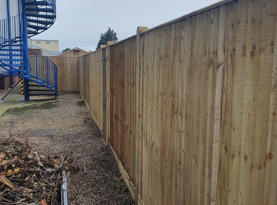 Closeboard Fencing with Timber Posts and Gravelboards