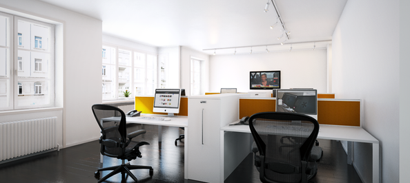 Metal office desk-end tower