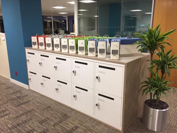 Metal Office lockers with RFID locks