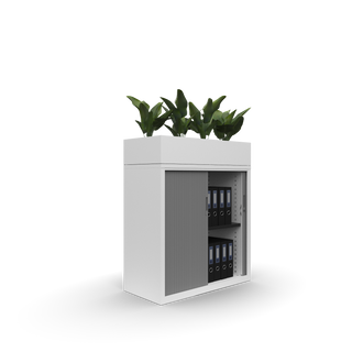 Metal office 1000w Goodwood tambour with planter