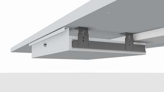 Metal office under desk drawer