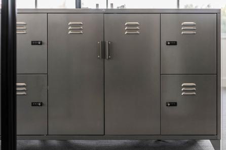 Metal office lockers and cupboard