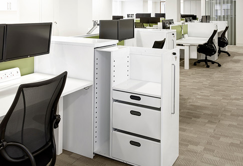 Metal office cutom desk end towers