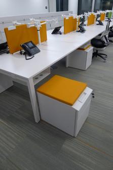 Metal office custom design pedestal with seat pad & handle