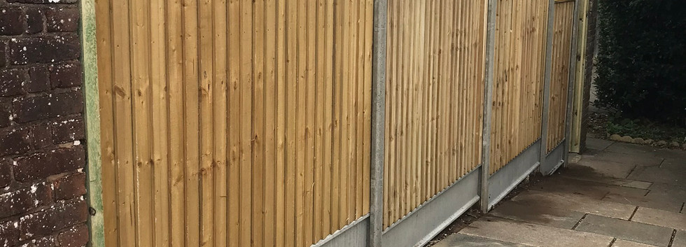 Closeboard with Concrete Posts and Gravelboards