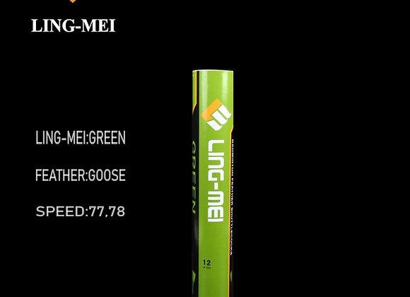 Ling-Mei Green Badminton Shuttlecock