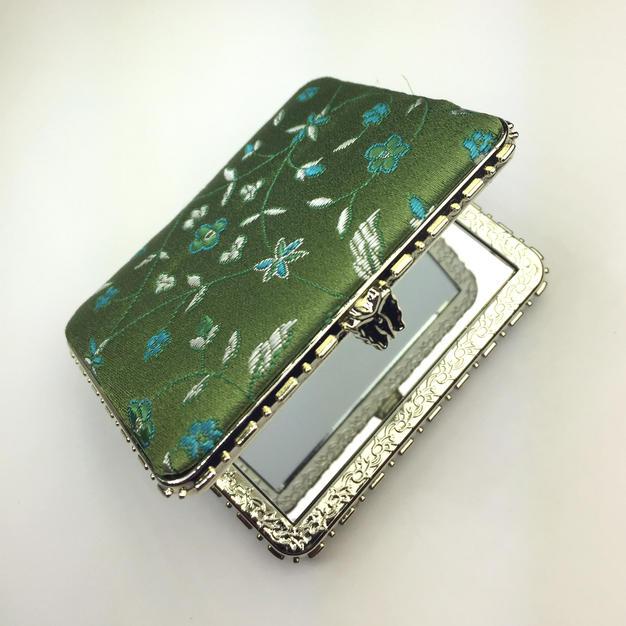 Oriental-design Mirror (Green, Rectangle)