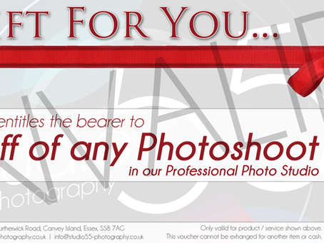 Gift Vouchers for Studio 55 Photography